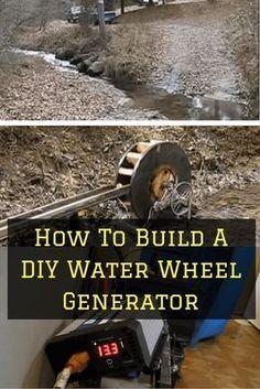 How to build a water wheel generator #DIYHomemadeEnergy