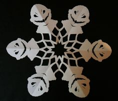Doctor Who snowflakes: In honor of this year's Christmas special, the Snowmen.