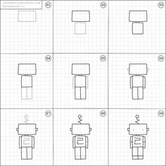 How to draw a robot.