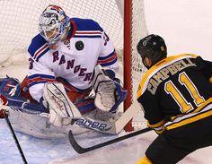The Boston Bruins vs New York Rangers