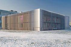 R&D building Heidelberg (DKFZ), arch: Heinle, Wischer & partner. EQUITONE facade materials.