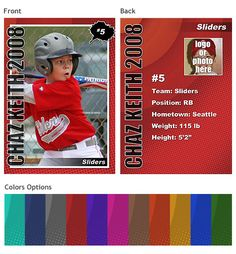 baseball card template | Sports Trading Cards Template Vol. 2
