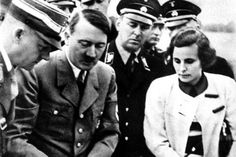 Leni Riefenstahl and Adolf Hitler at a movie and discussion of the Nuremberg Rally (1934)