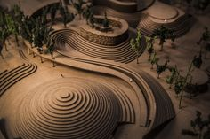 Second year Landscape Architecture student model of their Zoo project. Cal Poly Pomona