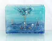 KilnFormed fused glass Home Decor Gifts judaic by virtulyglass