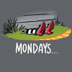 Mondays are Wicked T-Shirt The Wizard of Oz TeeTurtle Humor Wicked Witch of the East Mondays are Wicked T-Shirt Smileys, Wizard Of Oz Quotes, Wicked Musical Quotes, Monday Humor, Monday Morning Humor, Morning Quotes, Night Quotes, I Hate Mondays, Yellow Brick Road