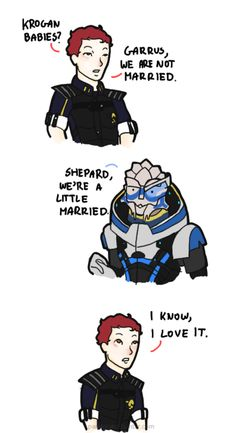 My favorite Scrubs line with my favorite video game. Mass Effect Funny, Mass Effect Garrus, Mass Effect Romance, Mass Effect Art, Mass Effect Universe, Tomb Raider Cosplay, Commander Shepard, Comic Games, Dragon Age