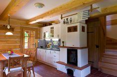 Roubenka Na rovince - apartmán 1 Log Homes, Shabby Chic, Loft, Kitchen, House, Spirit, Gardening, Furniture, Home Decor