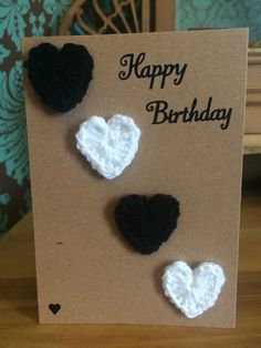 My crochet birthday card listed on eBay, see eBay link in comments :)