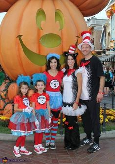 Lana: We went to Disneyland for the special Halloween party and wanted to go themed. What better than the Cat in the Hat Dad and Mom along with their 'things' in...