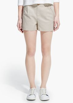 Short lino algodón | MANGO