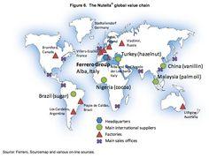 Le succès de Nutella est mondial: 225.000 tonnes sont vendues chaque année dans 75 pays. Ce que l'on sait peut-être moins, c'est que la fabrication de la célèbre pâte à tartiner est également mondiale. L'OCDE (Organisation de coopération et de développement économiques), signale Quartz, a d...