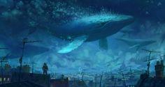 """Whale Rider 2"" by Artur Sadlos on #INPRNT - #illustration #print #poster #art"