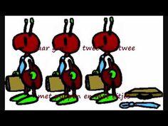 liedje: De miertjes gaan verhuizen