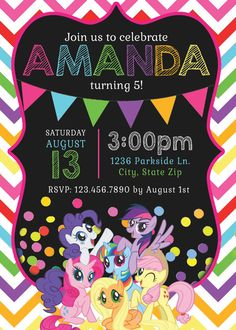 My Little Pony Invitations My Little Pony by MemorableImprints