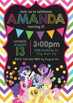 My Little Pony Invitations My Little Pony by MemorableImprints