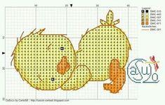 Patinhos em Ponto Cruz (Enxoval do Bebê) | ♥Meus Gráficos De Ponto Cruz♥ | Bloglovin'