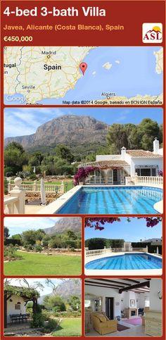 4-bed 3-bath Villa in Javea, Alicante (Costa Blanca), Spain ►€450,000 #PropertyForSaleInSpain