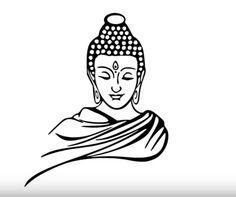 How to draw Gautam Buddha face pencil drawing step by step Buddha Wall Painting, Buddha Wall Art, Lion Painting, Simple Wall Paintings, Beautiful Paintings, Buddha Drawing, Buddhism Religion, Buddha Tattoo Design, Buddha Face