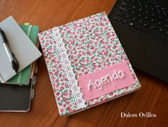 Dulces Ovillos: AGENDA FORRADA DE TELA - RING BINDER WITH FABRIC C...