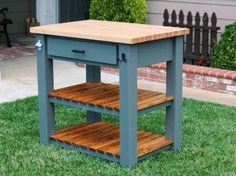 Butcher Block Kitchen Island   Do It Yourself Home Projects from Ana White