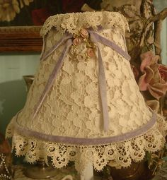 Vintage Lace Lampshade