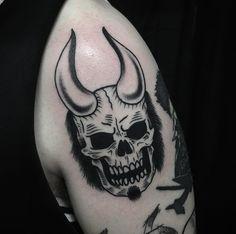 Hellboy skull by Dan Morris from Rain City Manchester