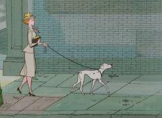 """""""Secretly Stylish Disney Characters: Anita"""" Goals...to be secretly stylish like Anita with a beautiful Dalmatian."""