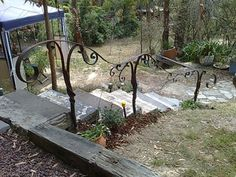 Image Detail for - Metal art garden handrail Wrought Iron Handrail, Iron Handrails, Metal Railings, Porch Handrails, Exterior Handrail, Hand Railing, Stair Railing, Minecraft Villa, Outdoor Handrail
