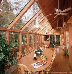 Solarium by Yankee Barn Homes.  This would make a nice sunroom for the endless pool.