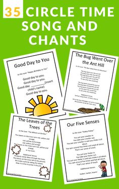 Sing songs and chants during circle time to build early literacy skills.  Perfect for toddler, preschool, and kindergarten circle times. #circletime #songsforkids #GrowingBookbyBook #teaching #earlyliteracy Preschool Learning Activities, Play Based Learning, Toddler Preschool, Early Learning, Literacy Skills, Early Literacy, Kindergarten Circle Time, Transition Songs, Circle Time Songs