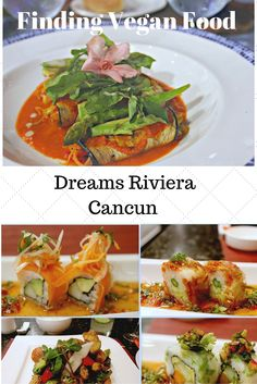 If you're visiting an all-inclusive resort, it can sometimes be challenging to find great  food if you're vegan, vegetarian or on an alternative diet. But our Vegan Vacationista headed to Dreams Riviera Cancun to check it out and found it was not only easy to find alternative food, but it was deliciously prepared. Here's what we discovered #Vegan #Vegetarian  dining in #Cancun #Mexico