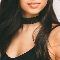 Look like a Victorian masterpiece in this Analise Lace Choker Set! Features an intricate, inch-thick black floral lace design. Adjustable lobster clasp. Gold hardware. Comes with a pair of gold ball s