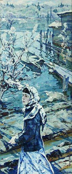 Кабачек Леонид Васильевич [1924—2002] На реке на Снеже. 1965