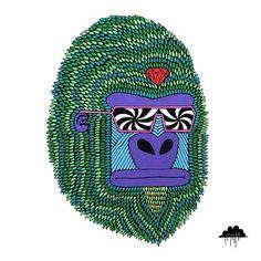 <3 Mulga The Artist Herbert the Hypno Ape http://mulgatheartist.tumblr.com/