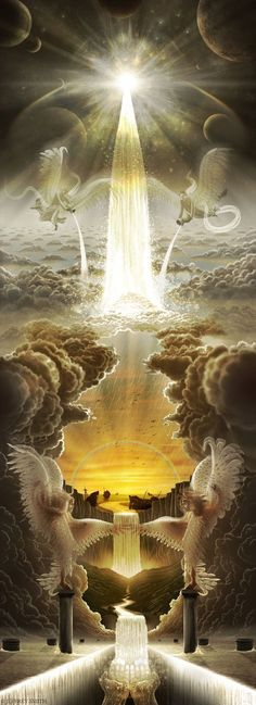 Revelation of God Bible (NOG) A New Jerusalem 9 One of the seven. - Nuran Tortu - - Revelation of God Bible (NOG) A New Jerusalem 9 One of the seven. Braut Christi, New Jerusalem, Prophetic Art, Biblical Art, Living Water, Jesus Pictures, Mystique, Wow Art, Visionary Art