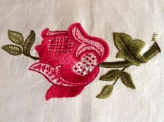 Jacobean motif by Vera Greenwood, would like to see more variation in pinks