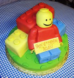made this for a friends son but made smaller lego pieces and put them and the lego man onto a choc cake really easy but looks effective give it a go guysxx