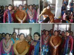 #Dugadda के #Mathna गांव में ग्रामीणों को राज्य सरकार की योजनाओं की जानकारी देते हुए | #SarojiniKaintyura #Uttarakhand #Campaigning