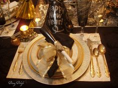 37 best New Year\'s Eve Table images on Pinterest | Table settings ...