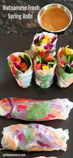 These spring rolls will make the perfect addition to any dinner or party. This recipe is easy to make, vegan and gluten free. They make the perfect snack, appetizer or even light healthy meal. #glutenfree #veganfood #vegetarianrecipes #easymeal Vegetarian Appetizers, Appetizer Recipes, Vegetarian Recipes, Healthy Recipes, Healthy Food, Dinner Recipes, Asian Recipes, Beef Recipes, Ethnic Recipes
