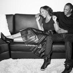 Black and white photo of Sarah Jakes Roberts and Husband Toure Roberts.