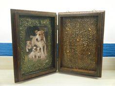 Ξύλινη κλειδοθήκη για αυτούς που αγαπούν τα σκυλάκια !!!!! (εσωτερικά).
