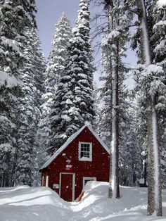 """From Humble to Grand: Magical Places in Snow """"majestic"""", """"winter"""", """"architecture""""] Snow Cabin, Cozy Cabin, Winter Cabin, I Love Snow, I Love Winter, Winter Snow, Snow Scenes, Winter Scenes, Cabins And Cottages"""