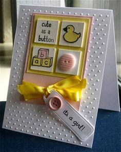 allycat cards: ATCAS #60 Cute As A Button