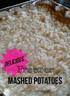 These Freezer Mashed Potatoes are one of my husband's specialties. After I made them one time, he decided we needed to eat them more