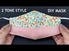 Small Sewing Projects, Sewing Projects For Beginners, Sewing Hacks, Sewing Tutorials, Sewing Patterns, Easy Face Masks, Diy Face Mask, Sewing Class, Quilt Stitching