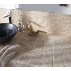 Mosaique Adhesive En Marbre Beige 10 X Cm Petite Salle Carelage De Bain