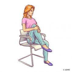6 упражнений для плоского живота, которые можно делать прямо на стуле