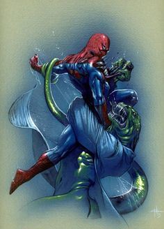 Spiderman vs The Lizard